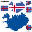 Stock Vector: Iceland vector set.