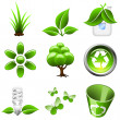 Stock Vector: Environmental green icons