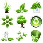Environmental green icons — Stock Vector #12455699