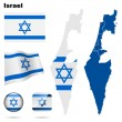 Israel  vector set. — Stock Vector