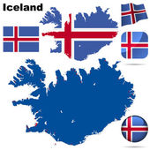 Iceland vector set. — Stock Vector