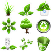 Environmental green icons — Stock Vector