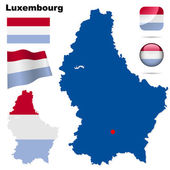 Luxembourg vector set. — Stock Vector