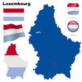 Luxembourg vector set. — Stock Vector
