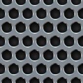 Bezešvé kovový gril — Stock vektor
