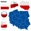 Poland  vector set — Vettoriali Stock
