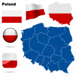 Poland  vector set — Stok Vektör