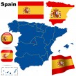 Spain vector set. — Stock Vector