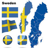Sweden vector set. — Stock Vector