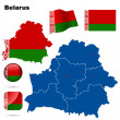 Belarus vector set. — Stock Vector