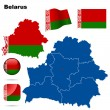 Stock Vector: Belarus vector set.