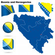Bosnia and Herzegovina vector set. - Stock Vector