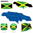 Jamaica vector set. — Stock Vector