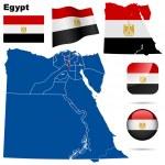 Egypt vector set. — Stock Vector