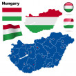 Royalty-Free Stock Obraz wektorowy: Hungary vector set.