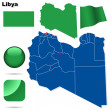Libya vector set. — Stock Vector