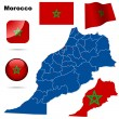 Morocco vector set. — Stock Vector