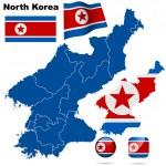 North Korea vector set. — Stock Vector #18686597