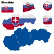 Slovakia vector set. — Stock Vector