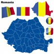 Romania vector set. - Stock Vector