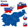 Slovenia  vector set. — Stock Vector