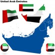 United Arab Emirates vector set. - Stock Vector