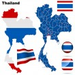 Royalty-Free Stock Obraz wektorowy: Thailand vector set.