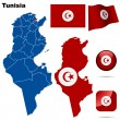 Tunisia vector set. — Stock Vector
