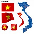 Vietnam vector set. — Vetorial Stock
