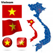 Vietnam vector set. — Stock Vector