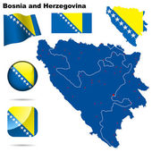 Bosnia and Herzegovina vector set. — Stock Vector