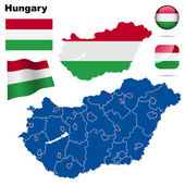 Hungary vector set. — Stock Vector