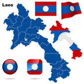 Laos vector set. — Stock Vector