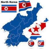 Set vettoriale corea del nord. — Vettoriale Stock