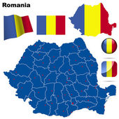 Romania vector set. — Stock Vector