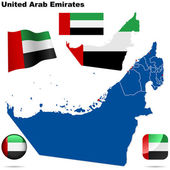 United Arab Emirates vector set. — Stock Vector