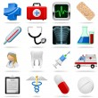 Stock Vector: Medical icons and symbols