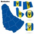 Barbados vector set. — Stock Vector