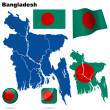 Bangladesh vector set. - Stock Vector
