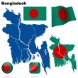 Bangladesh vector set. — Stock Vector