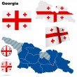 Georgia vector set. - Stock Vector