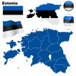 Estonia vector set. — Vector de stock