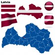 Latvia vector set. — Stock Vector