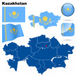 Royalty-Free Stock Immagine Vettoriale: Kazakhstan vector set.