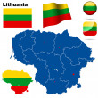 Lithuania vector set. — Vettoriale Stock