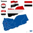 Yemen vector set. - Stock Vector