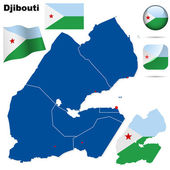 Djibouti vector set. — Stock Vector