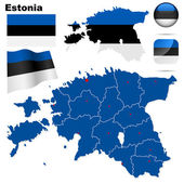 Estonia vector set. — Stock Vector