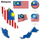 Malaysia vector set. — Stock Vector