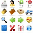 shopping icons — Image vectorielle